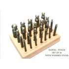 Dapping Punches 24 pcs in Wooden Stand