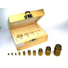All weights in wooden Box