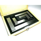 """4 pcs machinst sqauare set (2,3,4 & 6"""") in a wooden box"""