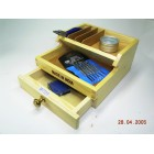 Bench top organiser wooden with flat top