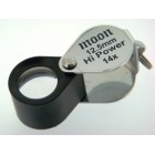 Loupe 12.5mm oval Chrome/Black 14x
