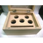 Wooden box with 5 holes of 31mm