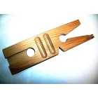 Wooden bench pin with V slot