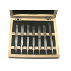 Tweezer set of 7 swiss style in wooden box (No 1,2,3,3C,4,5,SS)