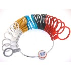 32 Metal Finger Sizer Multi color, A-Z & 1-6, 2mm flat
